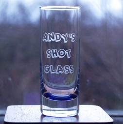 Blueberry Shot Glass - Engraved by Frosted Lime Ltd
