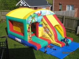 13ft x 18ft treasure island box jump and slide castle