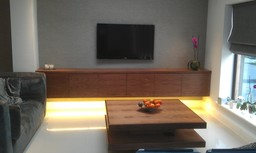 "Contemporary ""Floating"" cabinet &  Coffee Table"