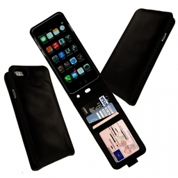 Austin Genuine Leather Flip Case with ID Window for iPhone 6