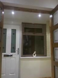 Low voltage Halogen spotlights in entrance porch