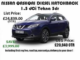 Nissan Qashqai Diesel Hatchback 1 5 Dci Tekna 5dr Ueg Autosred