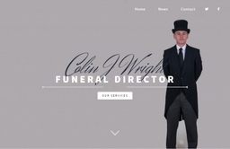 Colin J Wright funeral director Falkirk
