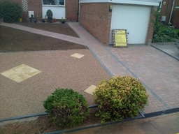 Block paved driveway and landscaping completed by LMT paving and landscapes Loughborough , Leicestershire