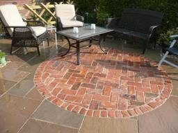 Reclaimed brick paving in Wiltshire
