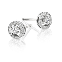 Diamond deco stud earrings designed by Avanti