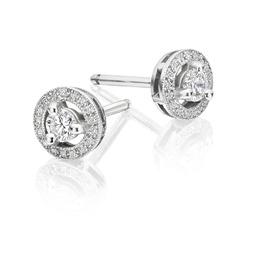 Diamond deco stud earrings designed by Avanti