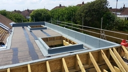 flat roof extension in progress
