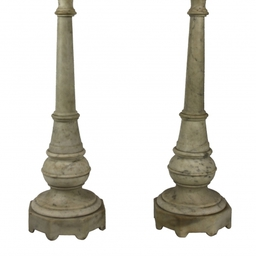 18th Century Marble Candlesticks