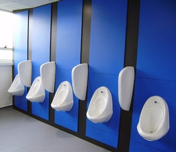 New Urinals & back panels In Men's Toilet
