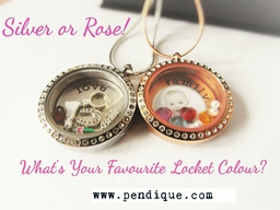 Silver or Rose floating locket Designs