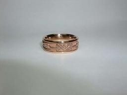 Bespoke 18ct rose / red gold gents wedding ring