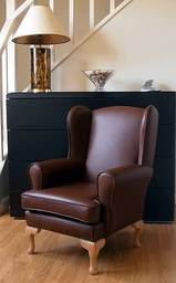 Childrens Chair - Soft Brown Leather