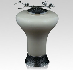 Ivory Rose Glass Cremation Urn 1428438633