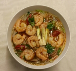 Vietnamese Prawns Pho Hue