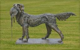 Classical Statues Garden Ornaments Bronze Huntingdog2