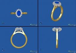 CAD design of cluster ring