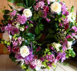 Funeral Wreath Spring Flowers - 01962 861999