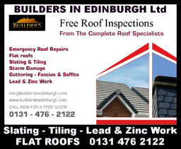 BUILDERS IN EDINBURGH FREE ROOF INSPECTIONS