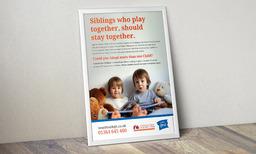Families for Children Adoption poster design