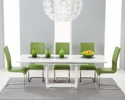 Beckley Malibu Green Contemporary Dining Set