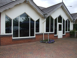 Natural tinted window film installed to restaurant