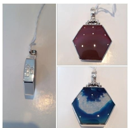 Handmade Sterling Silver and Agate Pendant