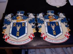 Hand painted crests