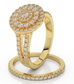 Yellow gold Diamond Ring 1236