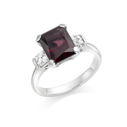 Rhodalite garnet & diamond dress ring