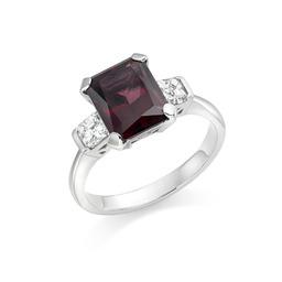 Rhodalite garnet & diamond dress ring