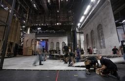 pinewood studio film set build