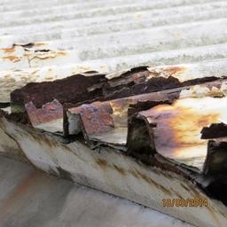 defect surveys - cut edge corrosion to industrial building
