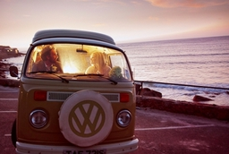 VW camper wedding photograph