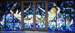 The Ceremony Room Stained Glass, Glenskirlie Castle near Falkirk designed and made by Artisan Stained Glass