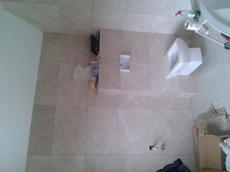 bathroom work in progres