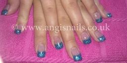 Aqua blue acrylics