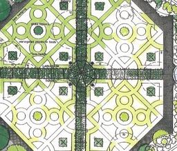 Walled Garden Restoration Design, with Box Knot Garden.