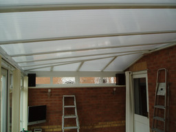 Polytint applied to conservatory roof