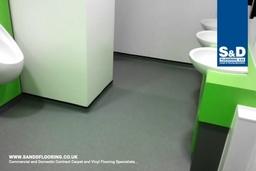 Non-slip Vinyl flooring for toilets and wet rooms.