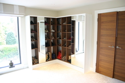 Contemporary Shoe Cabinet with Mirror Doors