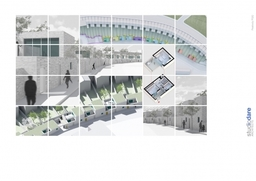 Peabody competition submission, urban renewal scheme of 16 houses with off-site parking.