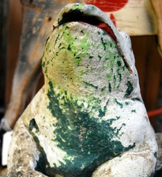 stone garden frog...we have a good selection of vintage garden ornaments