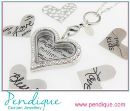 Stainless Steel Heart Backplates for Living Locket