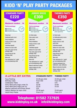 Kidd 'n' Play Party Packages