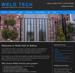 This website was created by Cyber-Net Services for a local welder in Bolton who specialises in Wrought Iron gates, railings and balustrades.