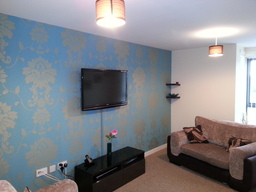 tv wall mounting wallpapering