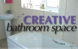 We provide creative bathroom space