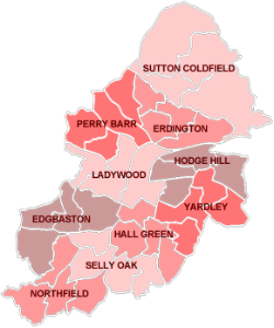 Birmingham map of the areas we cover