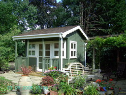 Lined, insulated double glazed garden building